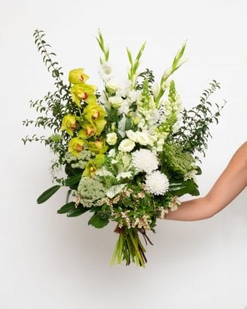 Classic White and Green Bouquet-1