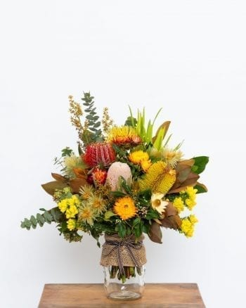 Australian Native and Wild Flower Posy Jar-1