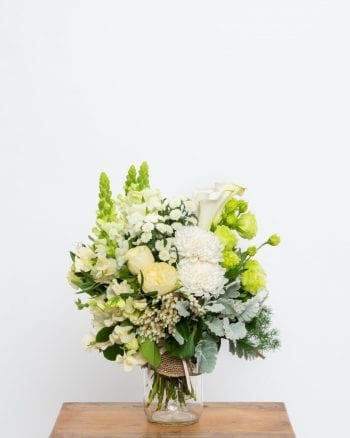 White and Green Posy Jar-1