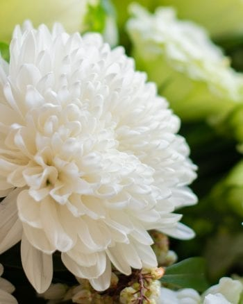 White and Green Posy Jar-2
