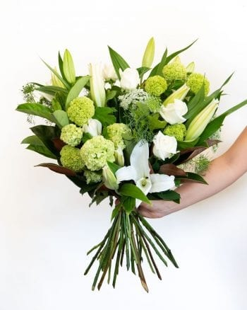White Lily and Rose Bouquet-1