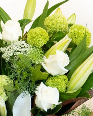 White Lily and Rose Bouquet-2